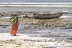 Muslim Woman on the beach Royalty Free Stock Image