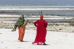 Muslim Woman on the beach Stock Photography