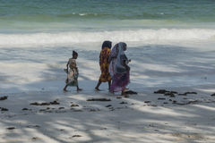 Muslim Woman on the beach Royalty Free Stock Photo