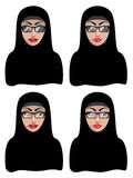 Muslim Woman in Black Hijab Royalty Free Stock Photos