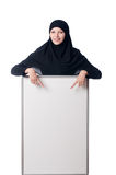 Muslim woman with blank board Royalty Free Stock Photos