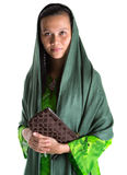 Muslim Woman With A Brown Purse II Stock Image