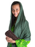 Muslim Woman With A Brown Purse III Stock Images