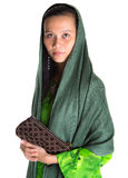 Muslim Woman With A Brown Purse IV Stock Image