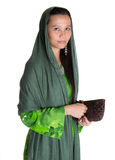 Muslim Woman With A Brown Purse VII Royalty Free Stock Photo