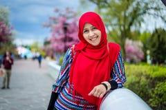 Muslim woman in Canada Royalty Free Stock Image