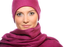 Muslim woman covered with a scarf Stock Photography