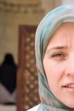 Muslim woman face stock photos