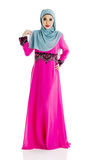 Muslim woman. Fullbody shot of muslim woman Royalty Free Stock Photos