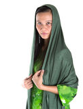 Muslim Woman With Green Headscar III Stock Photo