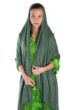 Muslim Woman With Green Headscar IV Stock Image