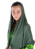 Muslim Woman With Green Headscar V Stock Photography