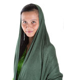 Muslim Woman With Green Headscar VI Stock Images