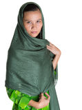 Muslim Woman With Green Headscar VII Stock Photography
