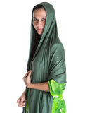 Muslim Woman With Green Headscar VIII Stock Images