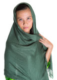 Muslim Woman With Green Headscar X Stock Photography
