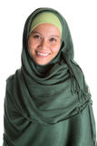 Muslim Woman In Green Hijab II Stock Images