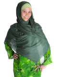 Muslim Woman In Green Hijab VI Royalty Free Stock Photo