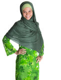 Muslim Woman In Green Hijab VII Royalty Free Stock Photography