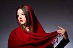 Muslim woman with headscarf Royalty Free Stock Photo
