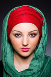Muslim woman with headscarf Royalty Free Stock Image