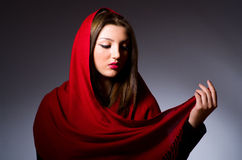 Muslim woman with headscarf Stock Photo