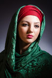 Muslim woman with headscarf Stock Images
