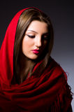 Muslim woman with headscarf. In fashion concept Stock Photo