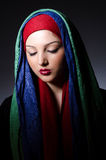 Muslim woman with headscarf Stock Photos