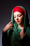 Muslim woman with headscarf Stock Image