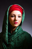 Muslim woman with headscarf Royalty Free Stock Images
