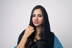 Muslim woman with headscarf in fashion concept Royalty Free Stock Images