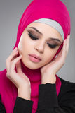 Muslim woman in hijab. Stock Images