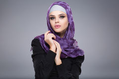 Muslim woman in hijab. Royalty Free Stock Images