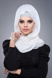 Muslim woman in hijab. Royalty Free Stock Photos