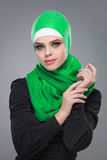 Muslim woman in hijab Royalty Free Stock Photography