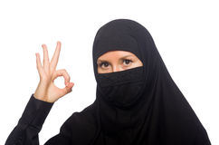 Muslim woman isolated Stock Photography