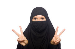 Muslim woman isolated Stock Images