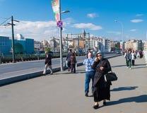 Muslim woman in istanbul Royalty Free Stock Image