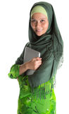 Muslim Woman With Laptop II Royalty Free Stock Image