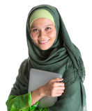 Muslim Woman With Laptop VI Royalty Free Stock Photography