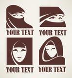 Muslim woman logo Stock Photo