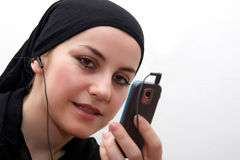 Muslim woman modern Royalty Free Stock Photo
