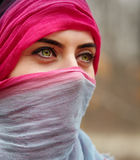 Muslim woman outdoor Royalty Free Stock Photo