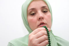 Muslim woman praying Royalty Free Stock Photos