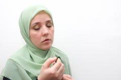 Muslim woman praying Royalty Free Stock Image
