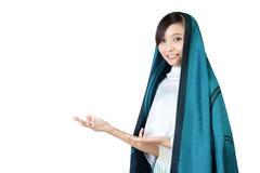 Muslim woman presentation Royalty Free Stock Image
