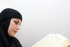 Muslim woman quran Royalty Free Stock Photos