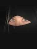 Muslim woman's veil Stock Image