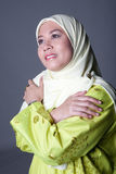 Muslim woman in scarf, isolated Stock Image